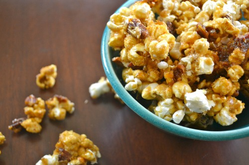 Bacon Pecan Homemade Caramel Corn at The Happy Housewife