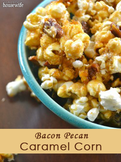 Bacon Pecan Homemade Caramel Corn | The Happy Housewife