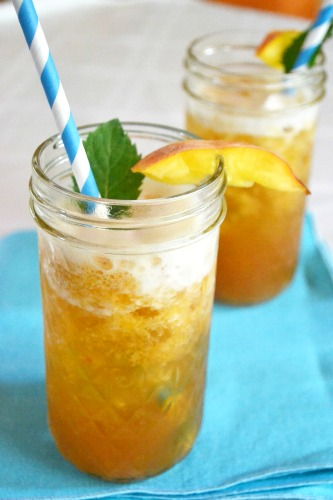 Homemade Ginger Peach Iced Tea at The Happy Housewife