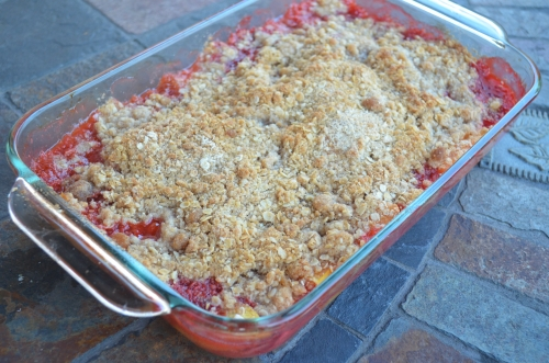 Peach and Strawberry Crisp