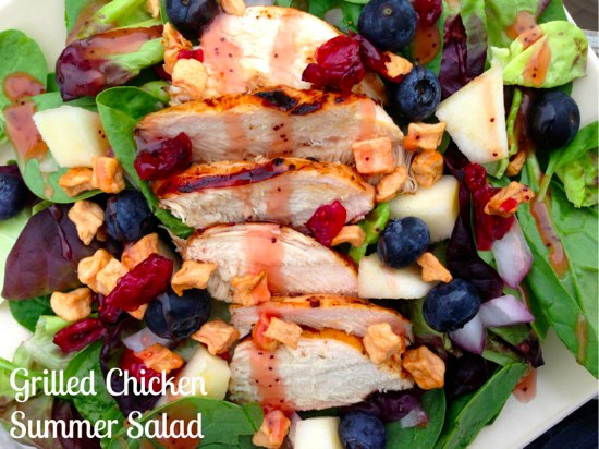Grilled Chicken Summer Salad | The Happy Housewife