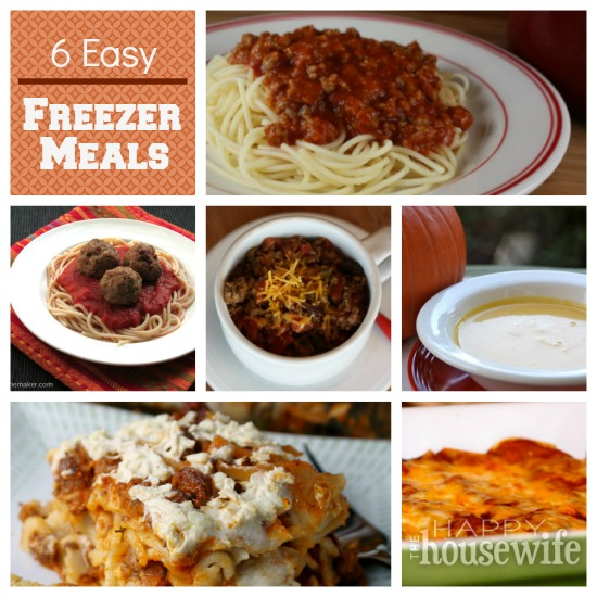 6 Easy Freezer Meals | The Happy Housewife