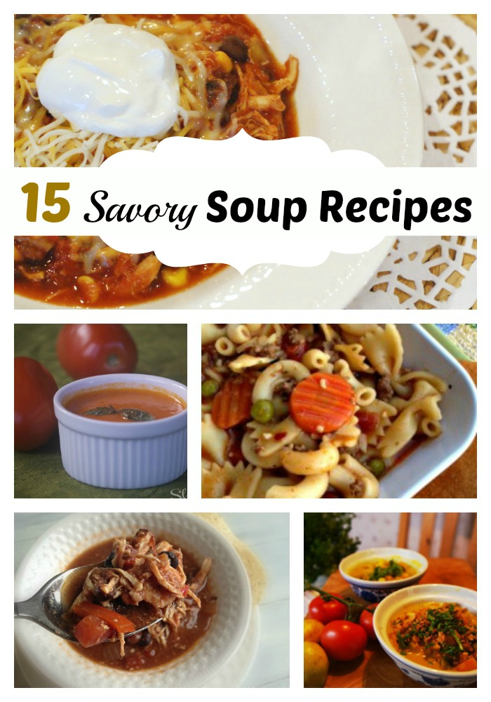 15 Savory Soup Recipes | The Happy Housewife