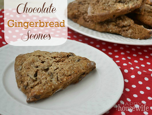 Chocolate Gingerbread Scones | The Happy Housewife