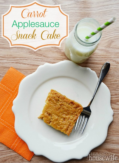 Carrot Applesauce Snack Cake | The Happy Housewife
