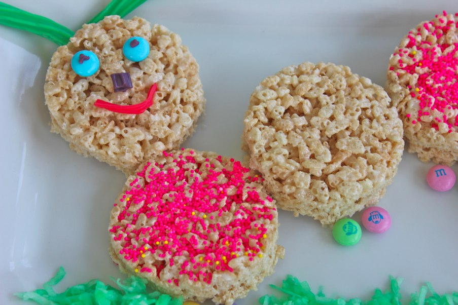 rice krispie caterpillar finished