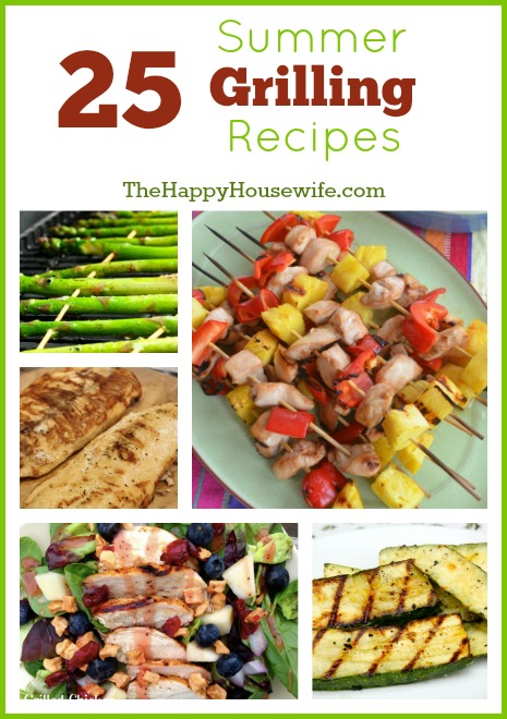 25 Summer Grilling Recipes | The Happy Housewife