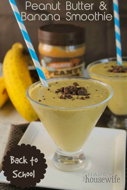 Peanut Butter Banana Smoothie for Back to School Mornings at The Happy Housewife