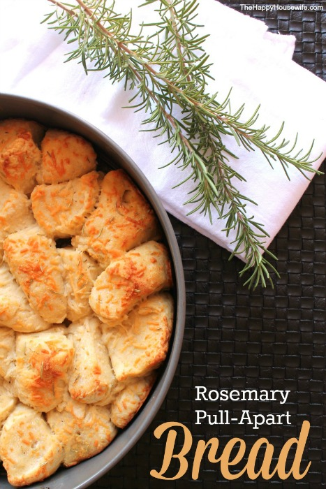 Rosemary Pull-Apart Bread at The Happy Housewife