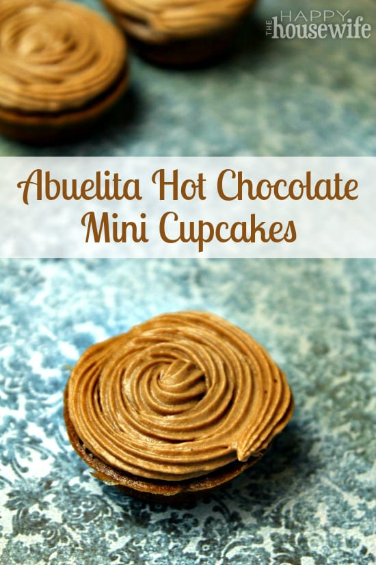 Abuelita Hot Chocolate Cupcakes at The Happy Housewife