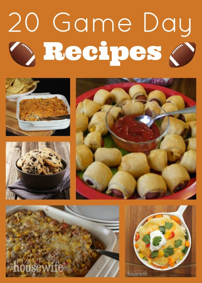 20 game day recipes the happy housewife cooking for Cuisine janod happy day