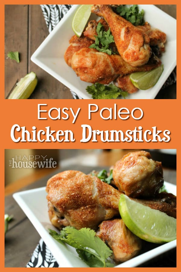 easy paleo chicken drumsticks the happy housewife cooking. Black Bedroom Furniture Sets. Home Design Ideas
