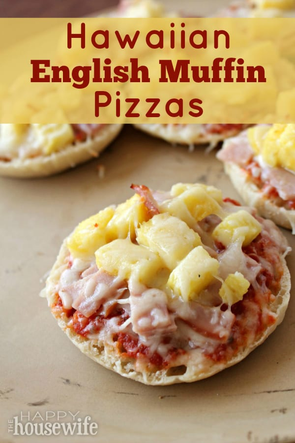 If you're looking for a kid-friendly, super simple weeknight meal then Hawaiian English Muffin Pizza is definitely for you!