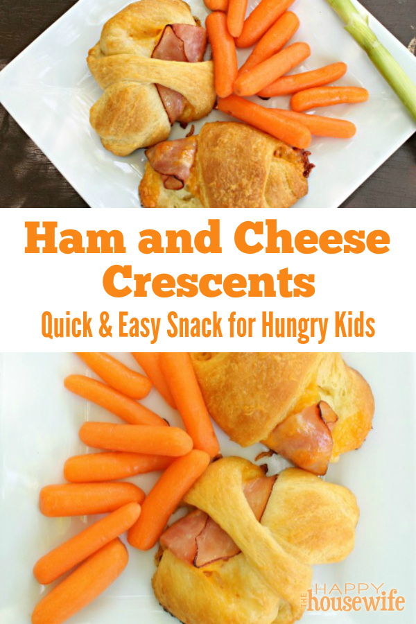 These delicious Ham and Cheese Crescents are hot in ready no time - perfect for a gathering of hungry young people, a quick bite after soccer practice, or a football party.