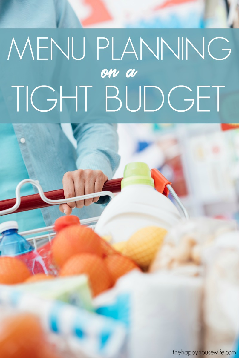 How to menu plan on a budget