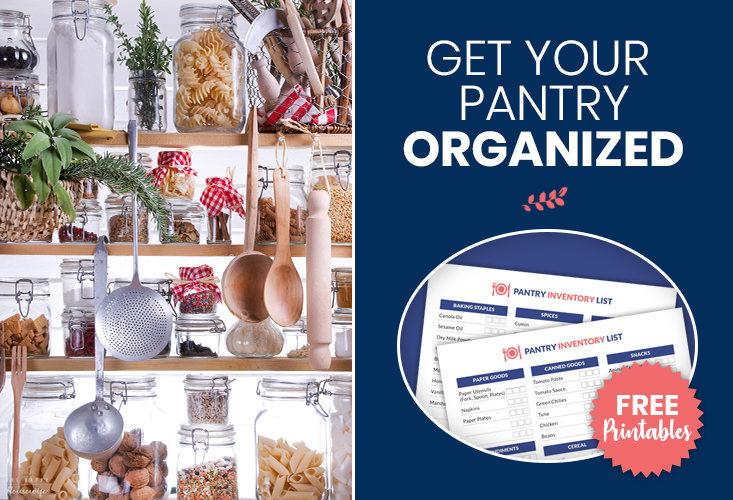 Pantry inventory worksheets