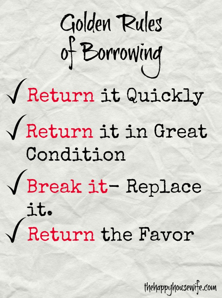 rules of borrowing