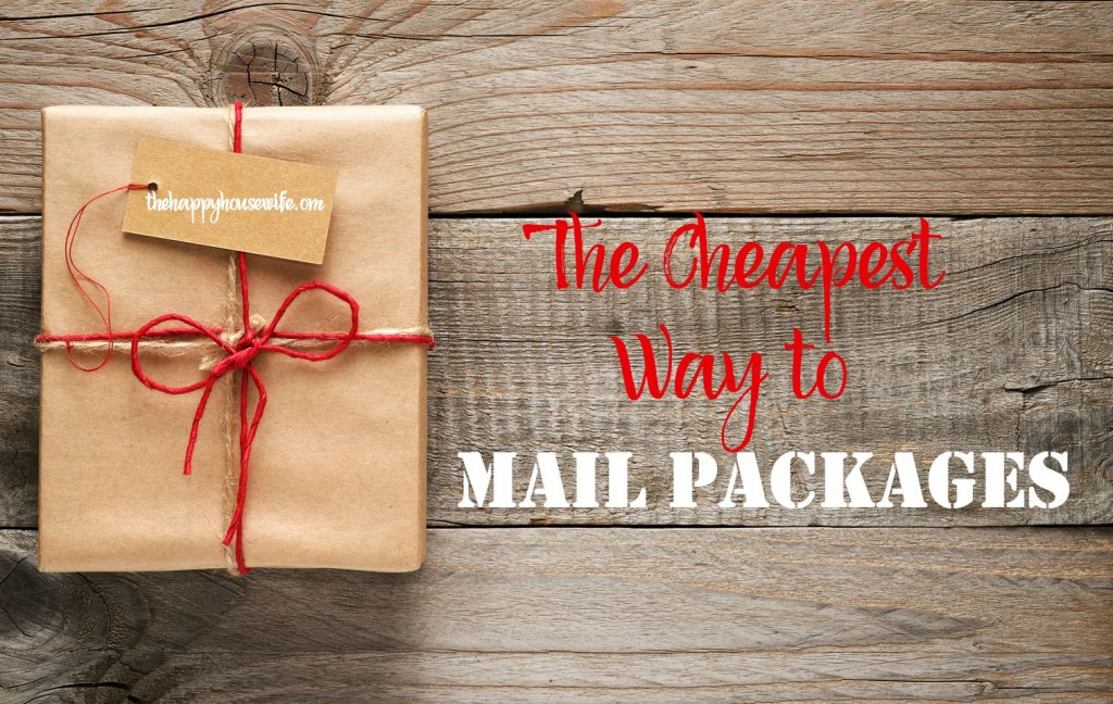 Cheapest shipping options for all types of packages, including FedEx, UPS, and the Post Office