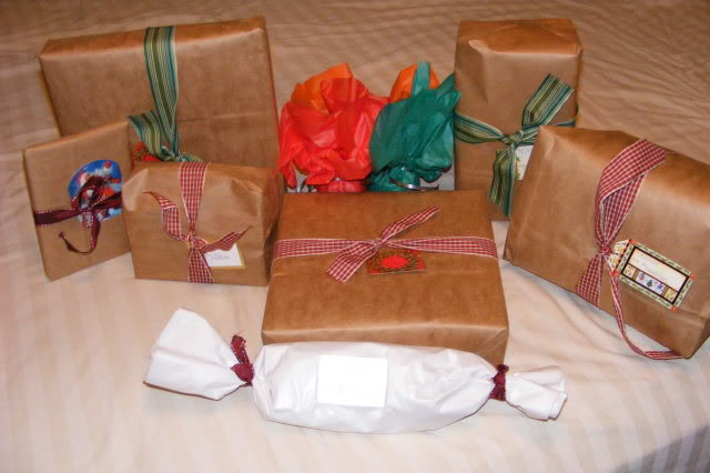 brown paper bags for frugal gift wrap