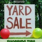 Yard Sale Shopping Tips