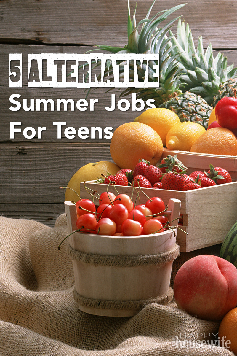 5 Alternative Summer Jobs for Teens at The Happy Housewife