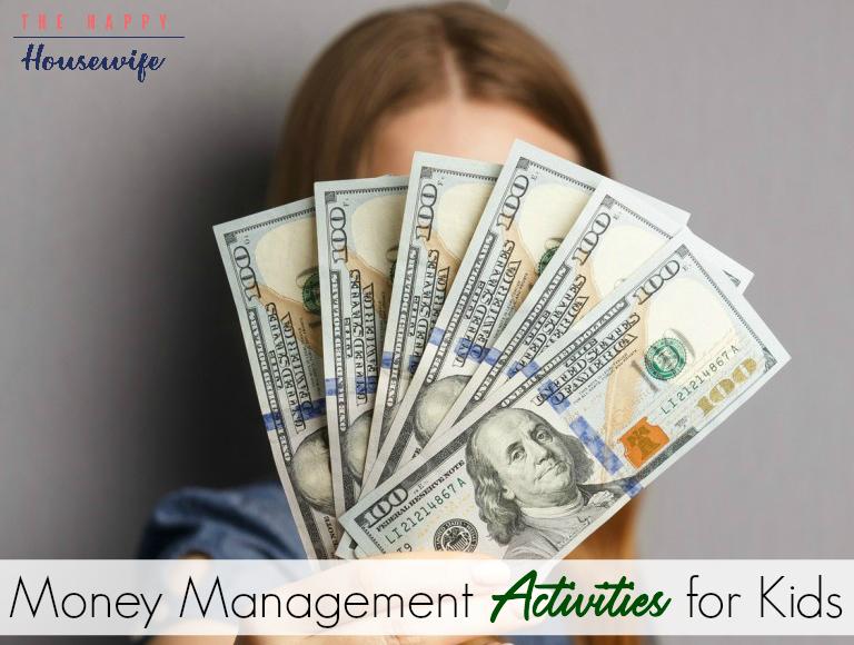 money management activities for kids