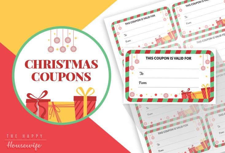 Printable Christmas Coupons for Stocking Stuffers