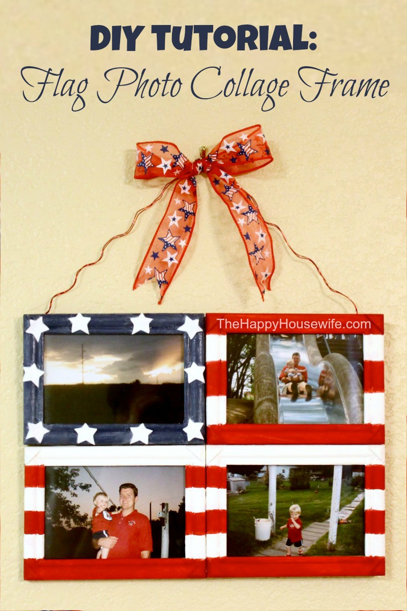 DIY Flag Photo Collage Frame - The Happy Housewife™ :: Home Management