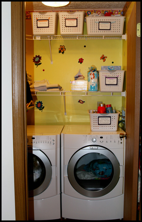 Three easy space saving solutions in a small house the happy housewife home management - Hamper solutions for small spaces minimalist ...