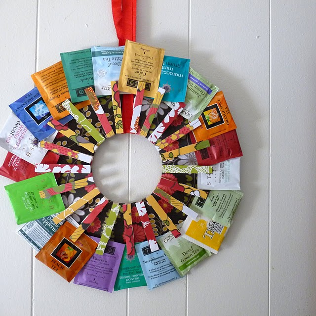 DIY Tea Wreath - The Happy Housewife™ :: Home Management