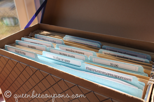 Organize Paper Bills The Happy Housewife Home Management