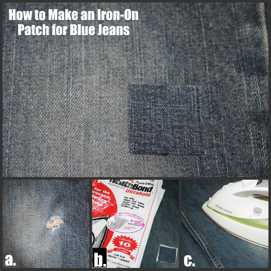 How To Fix Holes In Blue Jeans The Happy Housewife™ Home Management Impressive How To Patch Jeans Without A Sewing Machine