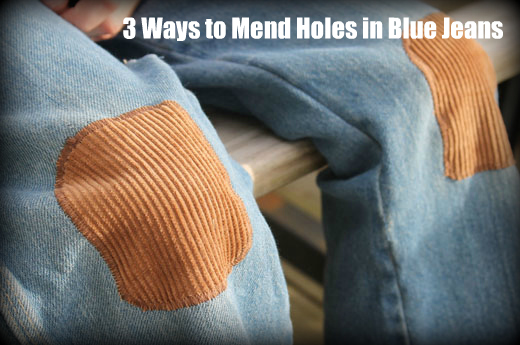 How To Fix Holes In Blue Jeans The Happy Housewife™ Home Management Beauteous How To Patch Jeans Without A Sewing Machine