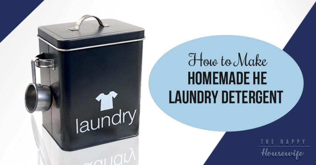 Homemade He Laundry Detergent