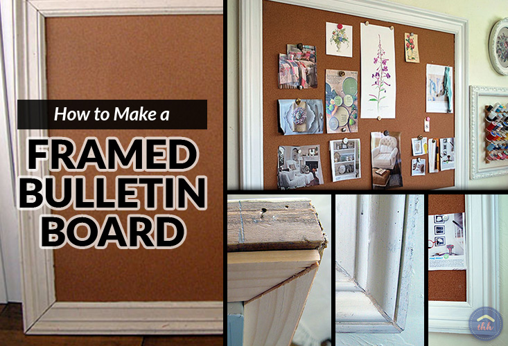 How To Make A Framed Bulletin Board The Happy Housewife