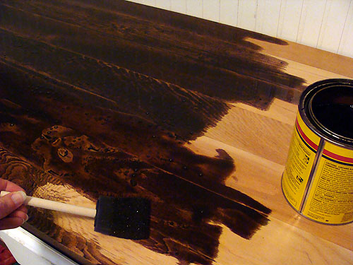 Charming Apply Wood Stain According To Directions. We Used An Oil Based Stain (that  Worked With The Water Based Pre Stain And Topcoats) In Walnut, ...
