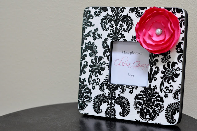 Damask Mod Podge Frame - The Happy Housewife™ :: Home Management