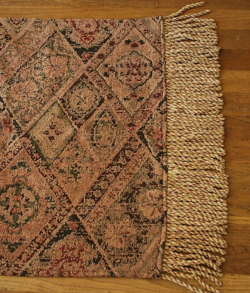 homemade rug-fringe