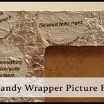 Foil Candy Wrapper Picture Frame