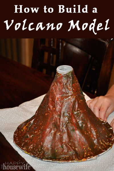 How to make a volcano model