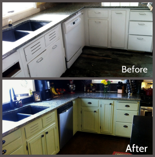 Kitchen cabinet refacing the happy housewife home for Kitchen cabinets before and after