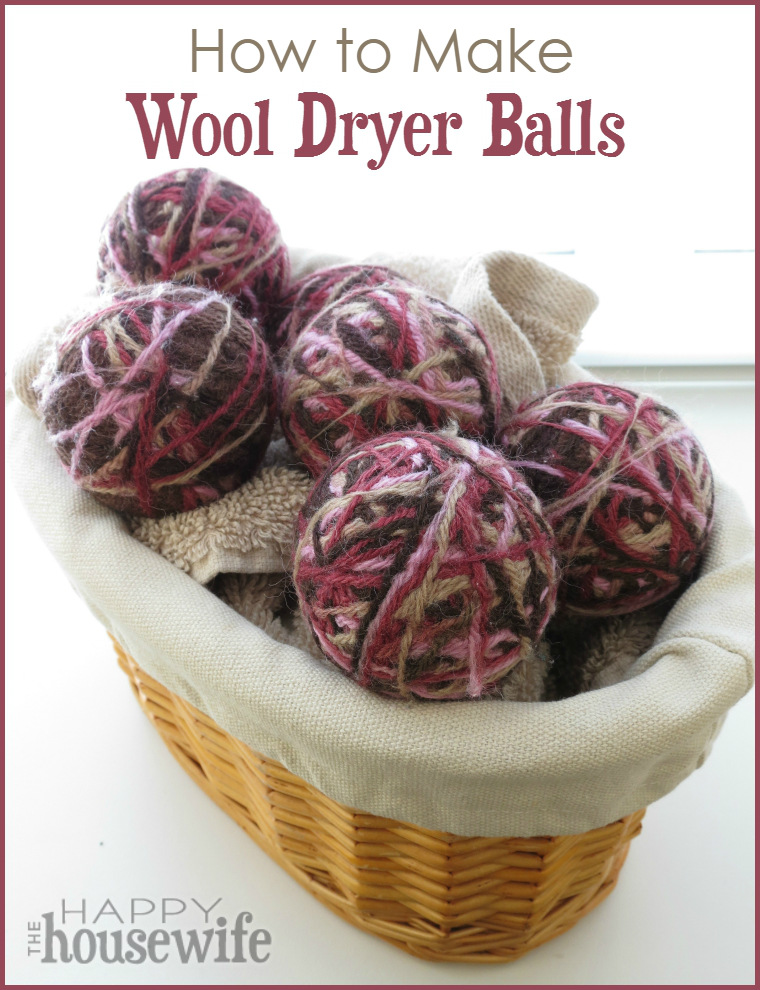 Learn how to make wool dryer balls - a very simple alternative to dryer sheets that is not only cost effective, it is also reusable and non-toxic. Found at The Happy Housewife