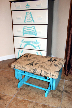 Ottoman Makeover for girls room