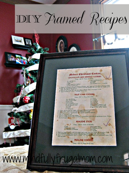 Framed Recipes: Homemade Christmas Gifts