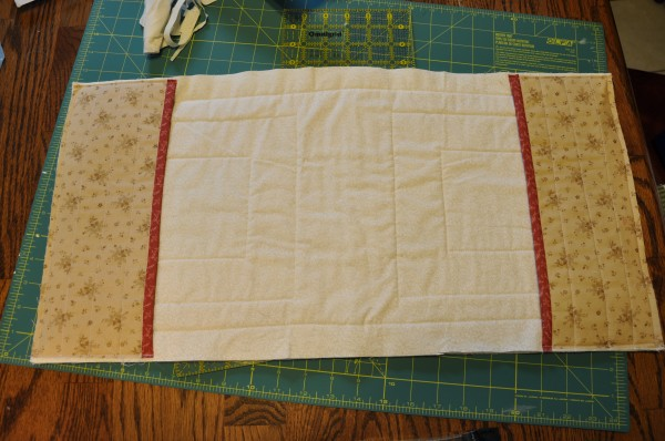Quilted Notebook Cover (step 3) | The Happy Housewife