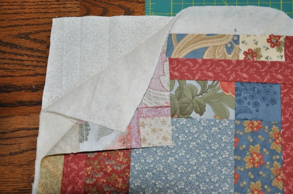 Quilted Notebook Cover (step 1) | The Happy Housewife
