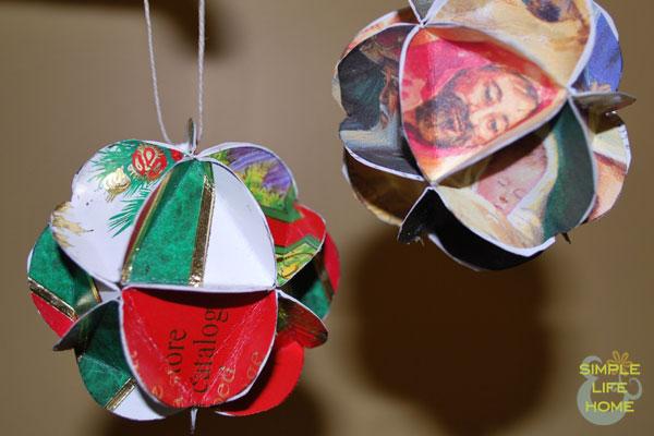 christmas card cubes - Christmas Card Ornaments