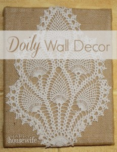 Homemade Quilts For Sale >> Doily Wall Decor - The Happy Housewife™ :: Home Management