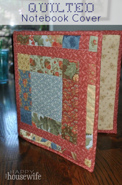 Diy Quilted Book Cover : Quilted notebook cover the happy housewife™ home