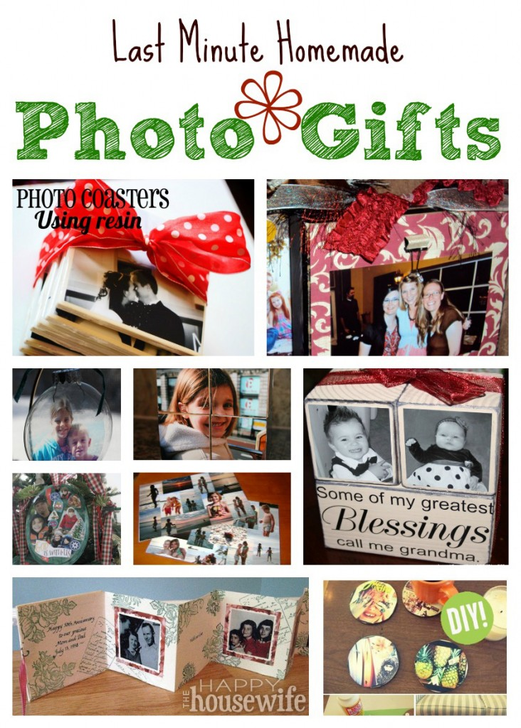Last Minute Homemade Photo Gifts The Happy Housewife